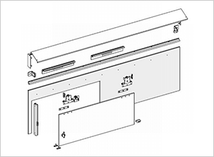 No.785DS エクスムーブ 13mmパネル用 半自動方引きシステム(傾斜レール)